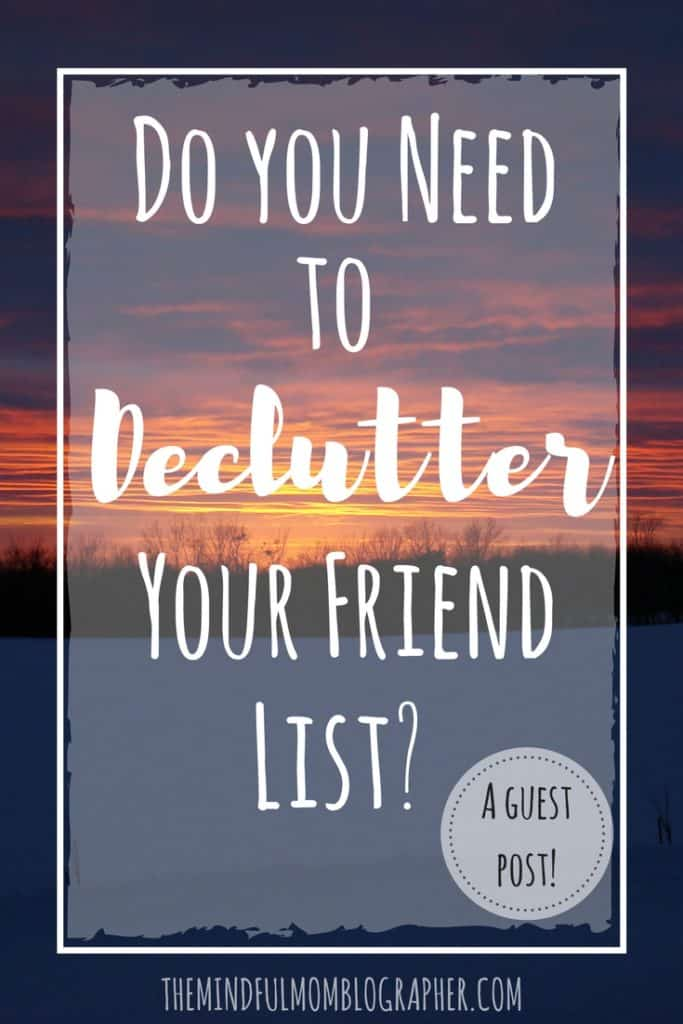 do you need to declutter your friend list