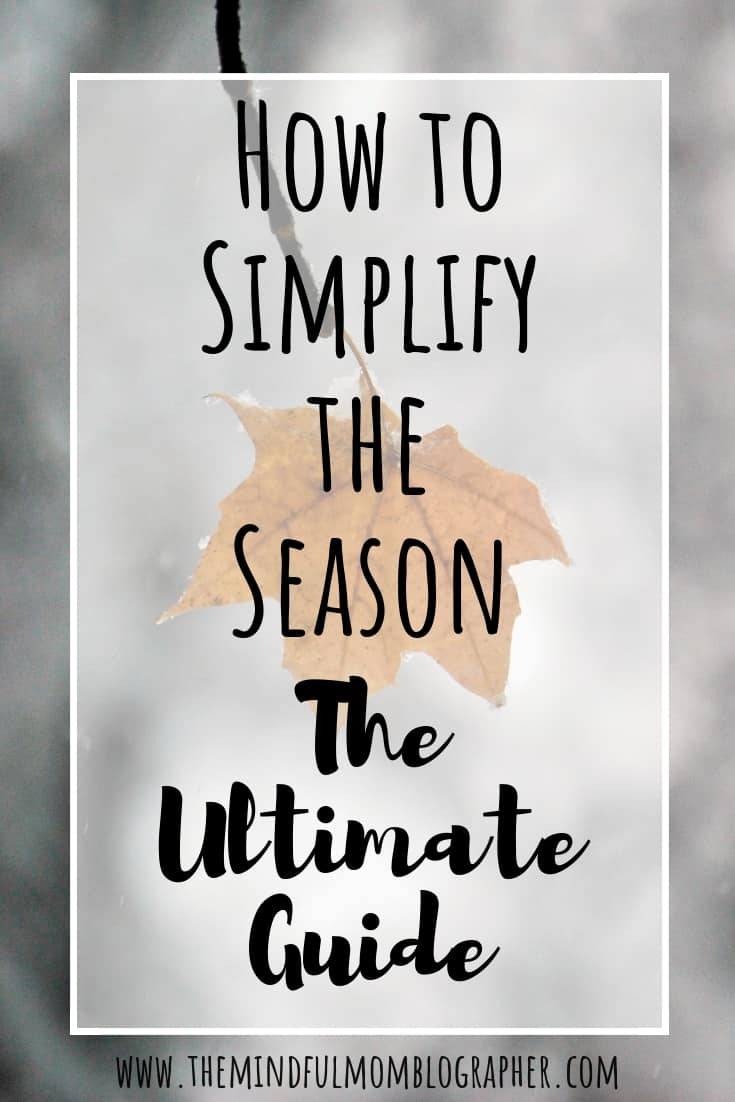 the ultimate guide on how to simplify the season