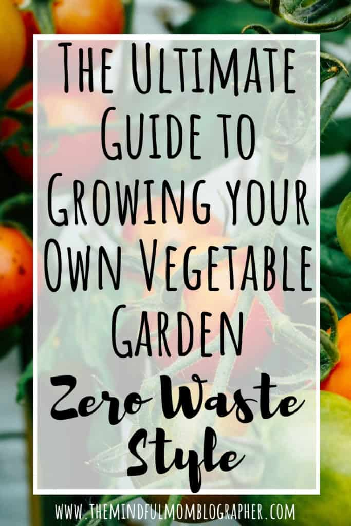 Learn how to grow your own vegetable gardening in any sized space. This post is perfect for beginners or for those who consider themselves intermediate gardeners. This post is also good for anyone looking to garden in their yard, in containers or pots, or in a community garden. Additionally, learn how to keep your garden low waste friendly! #lowwaste #garden #vegetable #veggies
